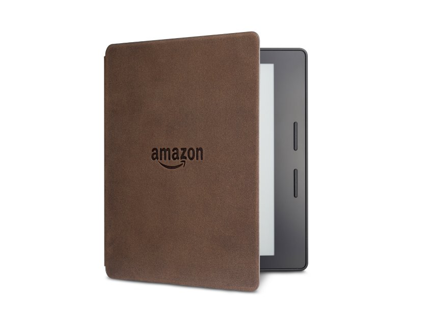 Электронная книга Amazon Kindle Oasis with Leather Charging Cover Walnut Wi-Fi + 3G (Special Offers). Фото N2