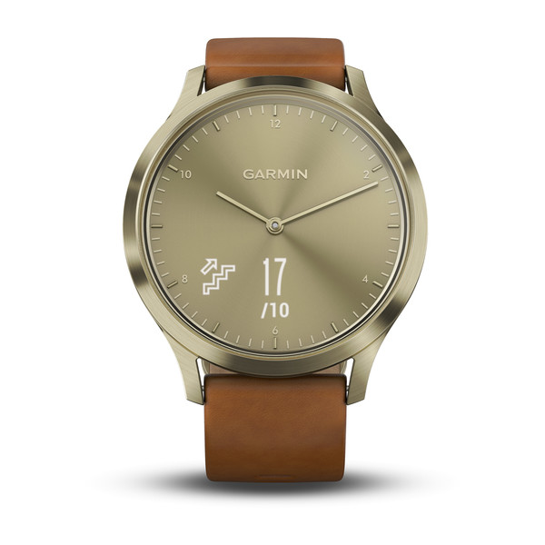 Умные часы Garmin Vivomove HR Premium (Brown/Gold). Фото N3