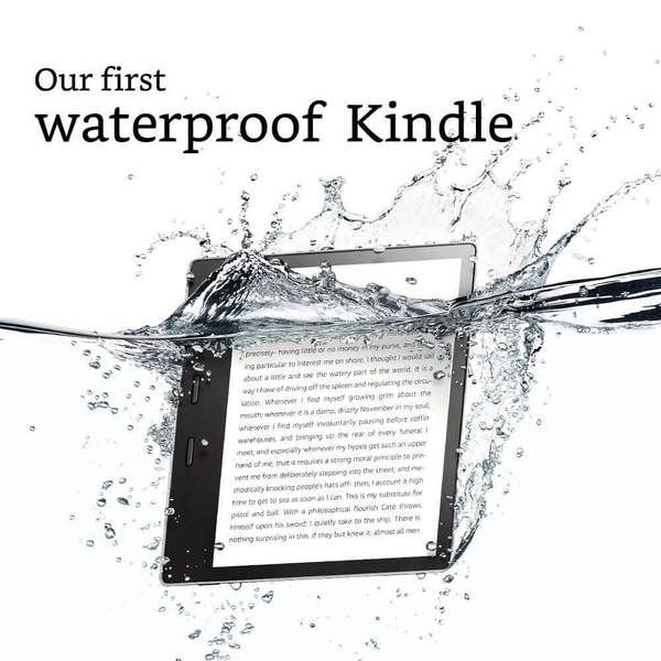Электронная книга Amazon Kindle Oasis 2017 8GB Graphit (Без рекламы). Фото N2