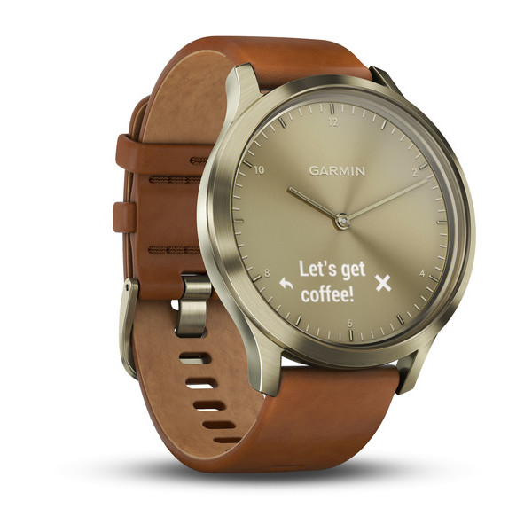 Умные часы Garmin Vivomove HR Premium (Brown/Gold). Фото N4