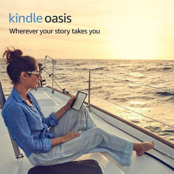 Электронная книга Amazon Kindle Oasis 2017 8GB Graphit (Без рекламы). Фото N6