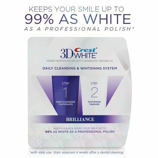 картинка Crest зубная паста 3D White Brilliance 2 Step Premium Toothpaste and Whitening Gel System от магазина 1Reader.ru . Фото N3
