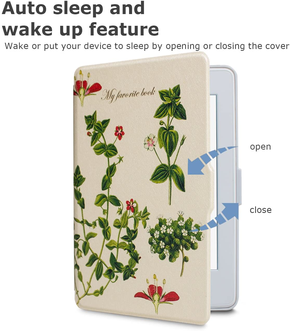 Чехол-обложка WALNEW Slim Case для Amazon Kindle Paperwhite (Green Life). Фото N3