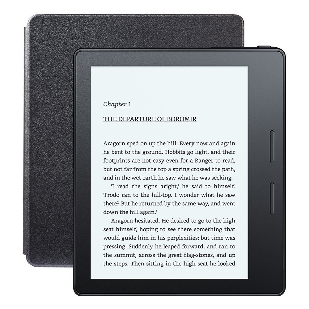 Электронная книга Amazon Kindle Oasis with Leather Charging Cover Black (Без рекламы)