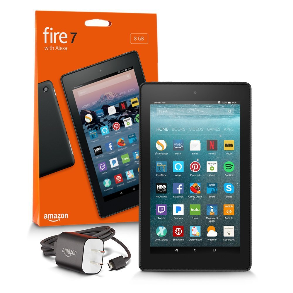 "Планшет Amazon Kindle Fire 7 Tablet with Alexa 7"" 8GB Black (Special Offers). Фото N2"