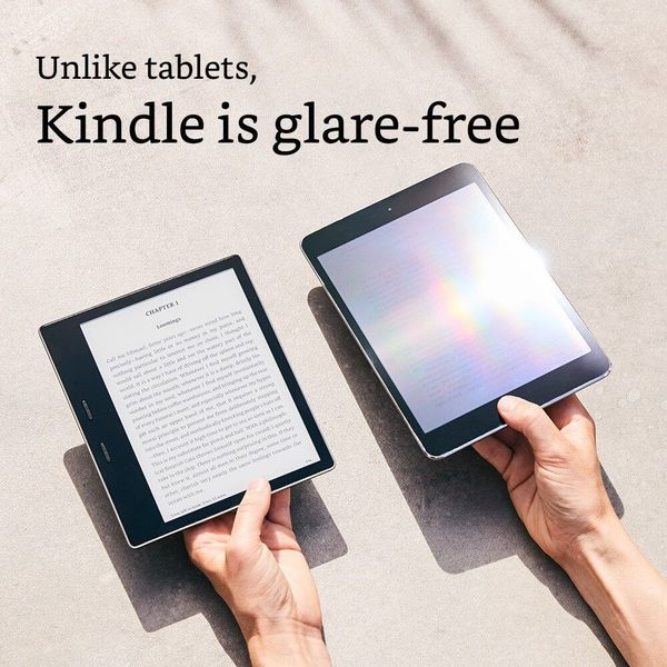 Электронная книга Amazon Kindle Oasis 2017 8GB Graphit (Без рекламы). Фото N4