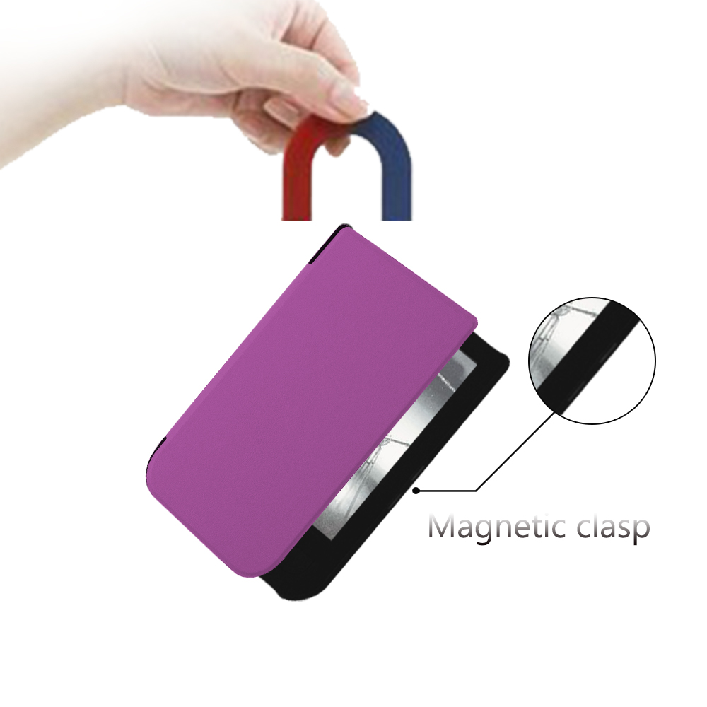 Чехол-обложка Slim Case с магнитом для PocketBook 631 Touch HD фиолетовый. Фото N5
