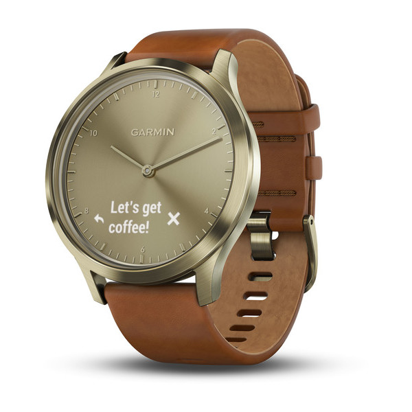 Умные часы Garmin Vivomove HR Premium (Brown/Gold). Фото N2