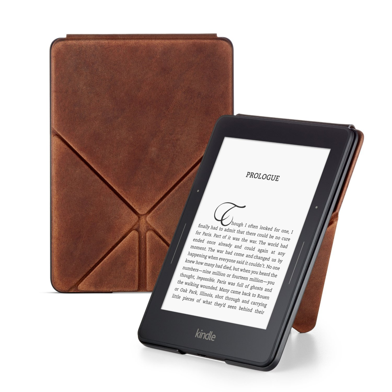 Чехол для Amazon Kindle Voyage Limited Edition Premium Leather Origami Cover (коричневый)