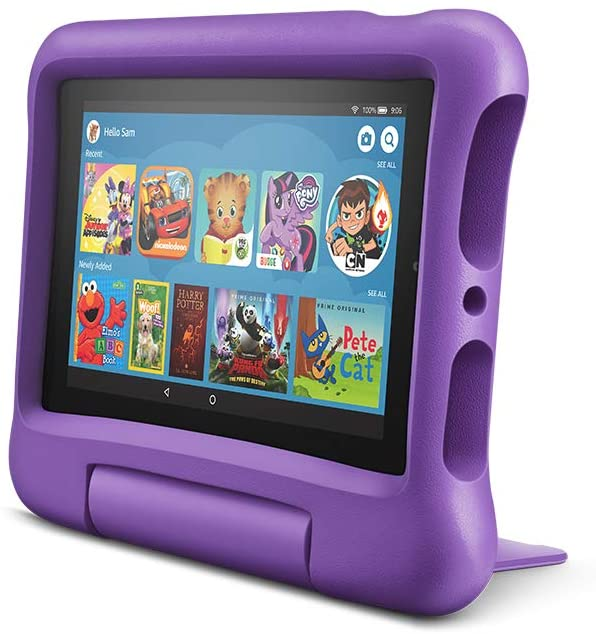 "Планшетный компьютер Amazon Kindle Fire 7"" Kids Edition 2019 16GB (Special Offers) + Purple Kid-Proof Case"