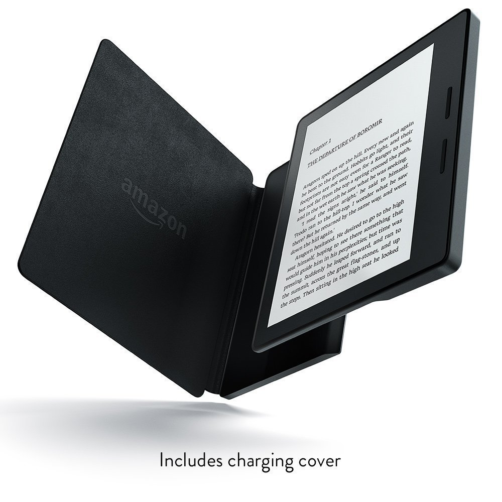 Электронная книга Amazon Kindle Oasis with Leather Charging Cover Black (Без рекламы). Фото N2