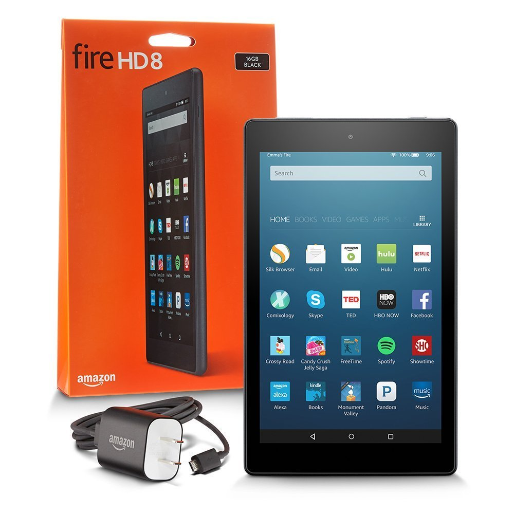 Планшетный компьютер Amazon Kindle All-New Fire HD 8 Tablet 16Gb. Фото N2