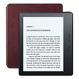 Электронная книга Amazon Kindle Oasis with Leather Charging Cover Merlot (Без рекламы)